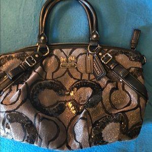 Rare Coach handbag with sequins